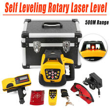 Ridgeyard Automatic 360 Rotary Rotating Laser Level Self Leveling Red Beam
