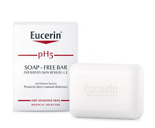 Eucerin Ph5 SOAP FREE CLEANSING BAR 100g For sensitive skin, Face & Body