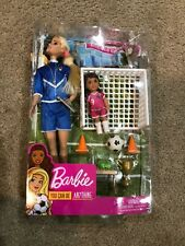 Barbie You Can be Anything Soccer Football Coach GLM53/GLM47 NEW IN BOX