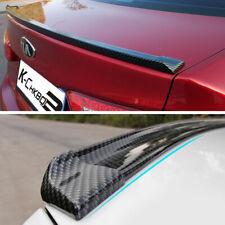 3D Carbon Fiber Universal Spoiler Rubber Rear Roof Trunk Molding Lip Sport Wing