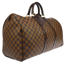 LOUIS VUITTON KEEPALL 50 TRAVEL HAND BAG PURSE DAMIER MB0026 N41427 AUTH S09190