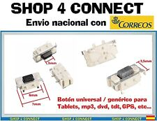 BOTON de para TABLET BUTTON SWITCH 3x6/7x3.5 mm volumen encendido interruptor bq