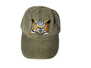 Great Horned Owl Hat Eco Wear Carlsbad,  CA Green Cotton
