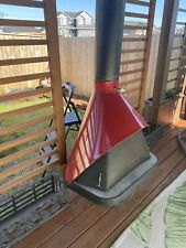 1960s Red Cone Mid Century fireplace