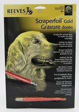 Reeves Scraperfoil Retriever Portrait Gold A4 Scratch Art Craft Gift Present