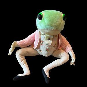 "Eden Mr Jeremy Fisher Frog Plush 20"" Stuffed Animal with Mini Matching Frog (P4)"