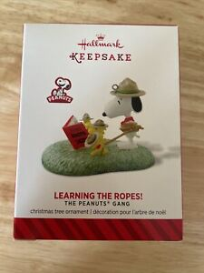 Hallmark 2014 Peanuts Gang Snoopy Beagle Scout Learning The Ropes Ornament