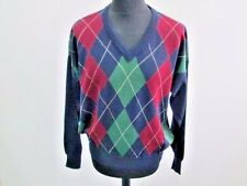 "Grade A Chemise Lacoste Mens V Neck Sweater Jumper Multi Size 6 46"" Chest  AR433"