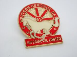 Western Heritage Day Imperial Oil Limited Horse Vintage Enamel Lapel Pin