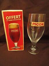 ancien verre picon bière-trait doseur ARC 3 cl-le verre collector en boite-bar