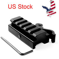 "US Quick Release 1/2"" Riser 20mm Picatinny Rail QD Mount for Rifle hunting Alum"