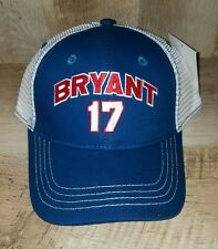 CHICAGO CUBS  2016 WORLD SERIES CHAMPIONS  - KRIS BRYANT 17 - BASEBALL HAT CAP