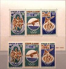 Dahomey 1972 484-86 bloc 19 c163-65a Olympics Munich sport shot put High Jump