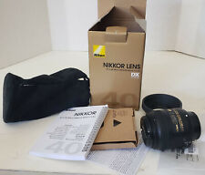 Nikon AF-S DX Micro Nikkor 40mm f/2.8 G Lens Clean Condition w/Shade Box Booklet