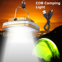 Solar Rechargeable LED Lantern Outdoor Garden Night Camping Tent Light Lamp USB