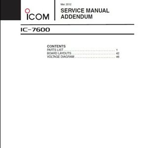 Icom IC-7600 Service Manual March 2012 - Full Color