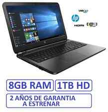 "ORDENADOR PORTATIL HP 15"" INTEL 8GB RAM 1 TB/ windows + office"