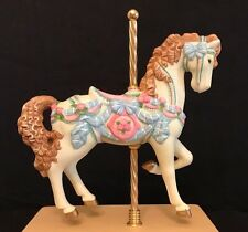 Carousel Horse Music Box, 1993 San Francisco Music Box Company, Porcelain Horse
