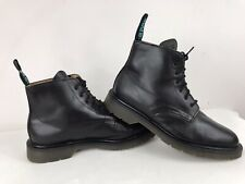 SOLOVAIR Made In England Leather 6 Eye Lace Up Ankle Hi Top Boots Black 9.5