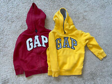 Baby Gap Boys Youth Hoodie 5T Zip Pullover Yellow Red Sweatshirt Pockets