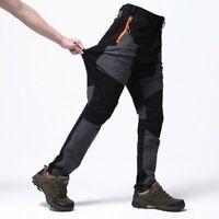 Waterproof Mens Thicken Fleece Warm Outdoor Hiking Trousers Climbing Long Pants