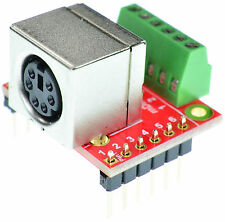 Mini Din 6 Female connector PS/2 Breakout Board, adapter, eLabGuy mDIN6-F-BO-V2A