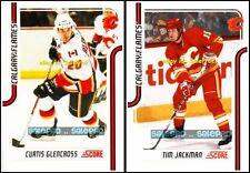 2x SCORE 2011 CURTIS GLENCROSS #82 TIM JACKSON #90 NHL FLAMES GLOSSY CARD LOT