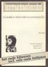 MAGAZINE HITMEMORIES 1980 nr. 46 - JOHN LENNON/SHADOWS/BRENDA LEE/JAN & DEAN