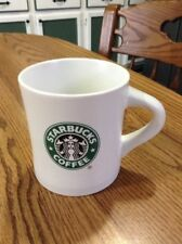 White Starbucks Coffee Mug Inverted Shape Siren Logo Minimalist 297 ml 10.5 Oz