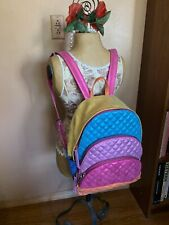 Betsey Johnson Metallic Rainbow Backpack NWT -Rare
