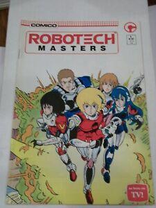 Comico ROBOTECH MASTERS #1 (1985) Anime, Mike Baron, Rich Rankin