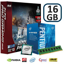 INTEL PENTIUM 1151 CPU 16GB DDR4 ASUS Z170 PRO GAMING MOTHERBOARD UPGRADE BUNDLE