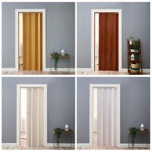 New PVC Plastic Folding Door Internal Doors Sliding 7 Panels Divider Magnetic