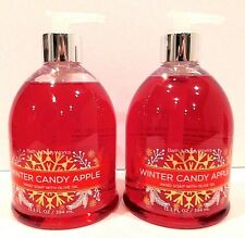 2 BATH & BODY WORKS WINTER CANDY APPLE HAND SOAP WITH OLIVE OIL 13.3oz NEW!