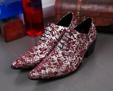 Mens Shiny Leather Lace Up Match Color Floral Pointed Toe Hairstylist Oxfords
