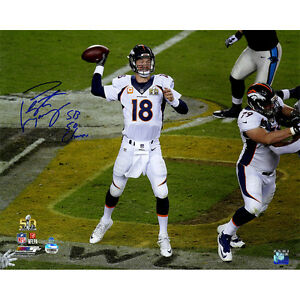PEYTON MANNING Autographed / Inscribed SB 50 Champs 16 x 20 Photograph STEINER