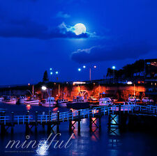 Wollongong Australia Night Harbour Original Digital Photo E-Mail Free Shipping