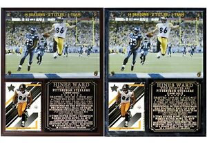 Hines Ward #86 Pittsburgh Steelers Photo Card Plaque