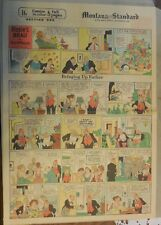Bringing Up Father Sunday by George McManus from  9/6/1936 Full Page Size!