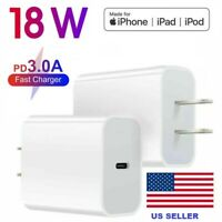 PD 18W USB-C Power Adapter Wall Charger For iPhone 12 11 Pro Max Macbook SAMSUNG