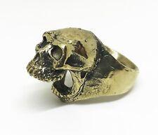 Jac Zagoory Designs Biting Skull Bronze Bottle Opener Ring Mens Size 9.5