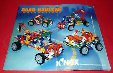 K'NEX * Road Haulers Instructions * Knex Booklet * 8 Vehicles Designs *