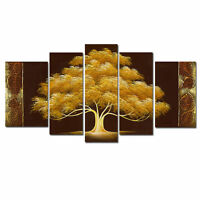 CHOP275 5pcs 100% hand-painted modern landscape tree  oil painting on canvas