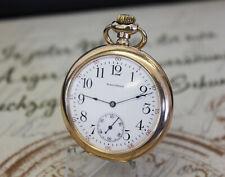 Rare Waltham MASS Taschenuhr 15 Jewels pocket watch Gold Filled