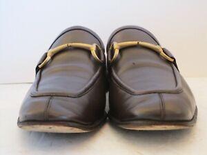 Men's Gucci Dark Brown Horse Bit Loafers Size 43.5 E EUR, 10 D USA
