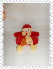 P - Doudou Semi Plat Clown Rouge Jaune Orange Nœud Papillon  Sucre d'Orge