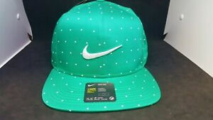 Nike Golf Pro Snapback Hat Cap Green Aerobill CN2319-370 Adjustable Printed -