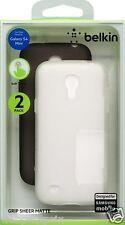 Belkin 1Pack de 2 Housses en TPU pour Samsung Galaxy S4 Mini Noir/Transparent