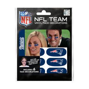 New England Patriots 6er Fan Tattoo Face Sticker NFL Football New
