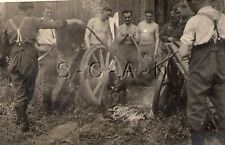 WWII German RP- Army Soldier- Semi Nude Gay Interest- Wagon Wheel- Fire- Cooking
